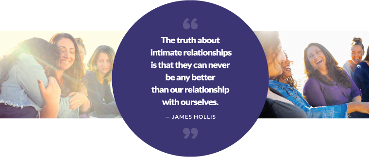 The truth about intimate relationships is that they can never be any better than our relationship with ourselves. — James Hollis